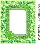 saint patrick's day ornate...   Shutterstock .eps vector #1298838721