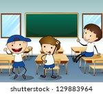 illustration of the three boys... | Shutterstock . vector #129883964