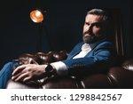 portrait of handsome elegant...   Shutterstock . vector #1298842567
