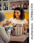 young volunteer. joyful nice... | Shutterstock . vector #1298861554
