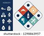 nobody icon set. 13 filled...   Shutterstock .eps vector #1298863957