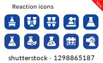 reaction icon set. 10 filled... | Shutterstock .eps vector #1298865187
