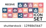 receive icon set. 19 filled... | Shutterstock .eps vector #1298865667