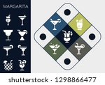 margarita icon set. 13 filled... | Shutterstock .eps vector #1298866477