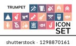 trumpet icon set. 19 filled...   Shutterstock .eps vector #1298870161