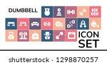dumbbell icon set. 19 filled... | Shutterstock .eps vector #1298870257
