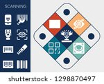 scanning icon set. 13 filled... | Shutterstock .eps vector #1298870497