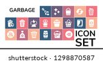 garbage icon set. 19 filled... | Shutterstock .eps vector #1298870587