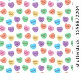 candy hearts seamless pattern   ...   Shutterstock .eps vector #1298872204