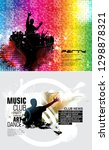 party background with dancing... | Shutterstock .eps vector #1298878321
