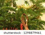 christmas decorations on the...   Shutterstock . vector #1298879461