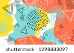 pop art color background.... | Shutterstock .eps vector #1298883097