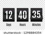 countdown timer. clock counter. ... | Shutterstock .eps vector #1298884354