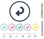 return arrow flat color icons... | Shutterstock .eps vector #1298891581