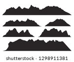 mountains silhouettes on the... | Shutterstock .eps vector #1298911381