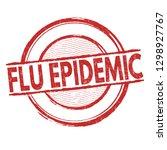 flu epidemic sign or stamp on...   Shutterstock .eps vector #1298927767