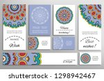 big set of greeting cards or... | Shutterstock .eps vector #1298942467