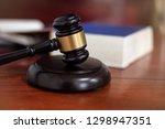 the judge gavel hammer of... | Shutterstock . vector #1298947351