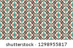 vintage pattern background. ... | Shutterstock .eps vector #1298955817