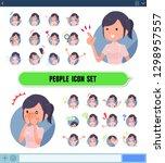 a set of chiropractor women... | Shutterstock .eps vector #1298957557