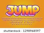 colorful cartoon alphabet... | Shutterstock .eps vector #1298968597