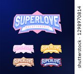 sport emblem typography set.... | Shutterstock .eps vector #1298970814
