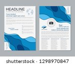 modern business two sided flyer ... | Shutterstock .eps vector #1298970847
