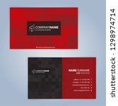 red and black modern business...   Shutterstock .eps vector #1298974714
