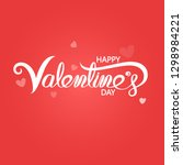 happy valentines day typography ... | Shutterstock .eps vector #1298984221