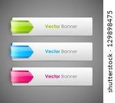 abstract vector banners set   Shutterstock .eps vector #129898475
