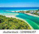 tallebudgera creek on a sunny... | Shutterstock . vector #1298986357