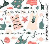 summer sea seamless pattern.... | Shutterstock .eps vector #1298988634
