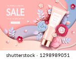 cosmetic tube ads with... | Shutterstock .eps vector #1298989051