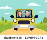 family trip. man and women by... | Shutterstock .eps vector #1298991271