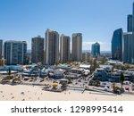 cavil avenue in surfers... | Shutterstock . vector #1298995414