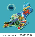 illustrated pictorial map of... | Shutterstock .eps vector #1298996554
