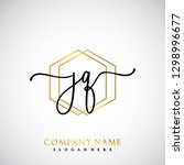 jq initial handwriting logo...   Shutterstock .eps vector #1298996677