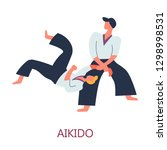 japanese sport aikido fighting... | Shutterstock .eps vector #1298998531