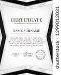 silver certificate template... | Shutterstock .eps vector #1299012031
