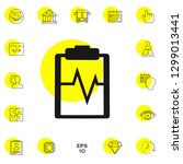 electrocardiogram symbol icon.... | Shutterstock .eps vector #1299013441