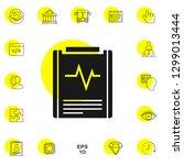 electrocardiogram symbol icon.... | Shutterstock .eps vector #1299013444