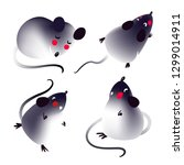 mouse  rat. chinese year of rat ...   Shutterstock .eps vector #1299014911