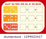 count the dot and fill in the... | Shutterstock .eps vector #1299022417