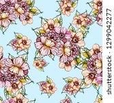 flower print. elegance seamless ... | Shutterstock . vector #1299042277