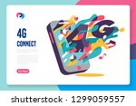 4g fast connection template... | Shutterstock .eps vector #1299059557