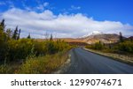 Fall views on the Dempster Highway in the Yukon, Canada.