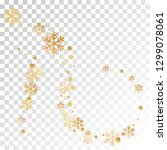 crystal snowflake and circle...   Shutterstock .eps vector #1299078061