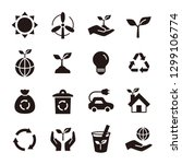 ecology eco icon set | Shutterstock .eps vector #1299106774