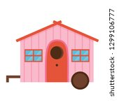 wooden spring bird house icon... | Shutterstock .eps vector #1299106777