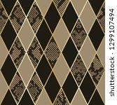 vector snakeskin seamless... | Shutterstock .eps vector #1299107494